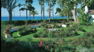 The lush landscaping at the Four Seasons Santa Barbara.