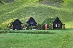 Traditional turf houses still litter grassy hillsides.