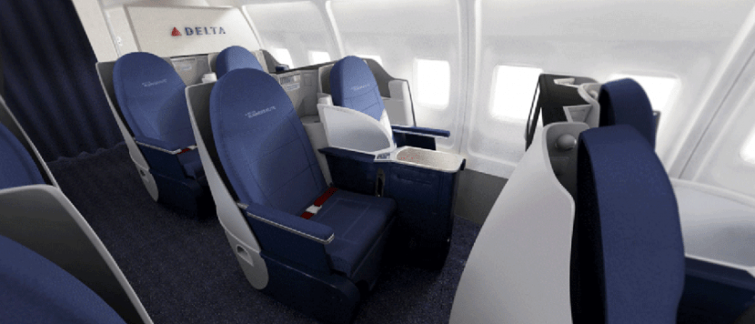 Delta's new 757-200 First class cabin.