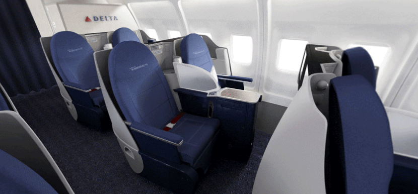 delta unveils new 757 200 transcon interior upgrade coming to businesselite and economythe. Black Bedroom Furniture Sets. Home Design Ideas