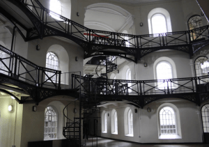 The main circle of Crumlin Road Gaol.