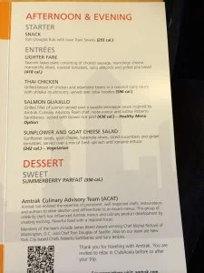 Entree and Dessert Selection