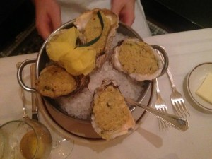 Oysters with Artichoke