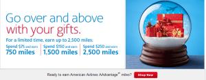 American Airline Spending Bonus Chart.