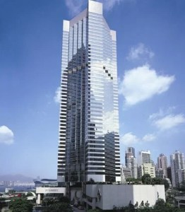 The high rise JW Mariott Hong Kong.