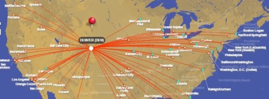 Southwest Direct Flight Denver Route Map