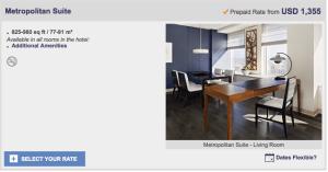 Surprise upgrade to a Metropolitan Suite