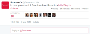 Free trips on Amtrak for writers.