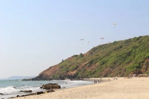 A white sand beach in Goa