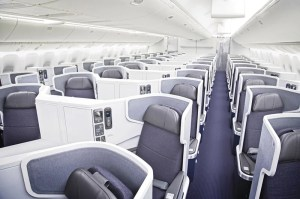 Business class seats aboard American's 777-300ER