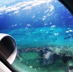 This is what the water around Grand Cayman looks like from the air - just imagine what it looks like from underneath!