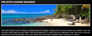 Visa Black Card Rewards