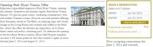 Get 5,000 bonus points to celebrate the opening of the Park Hyatt Vienna.