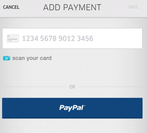 Add Payment Uber