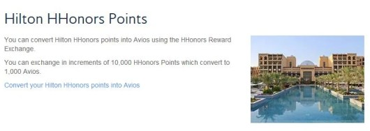 Convert hotel points to Avios points for a 25% bonus