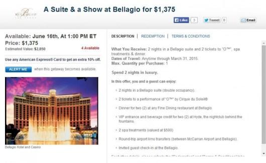 Las Vegas hotel deals.