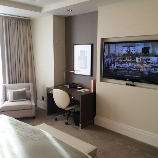 "The 55"" LCD-HD TV and writing desk in my Club Grand Room"