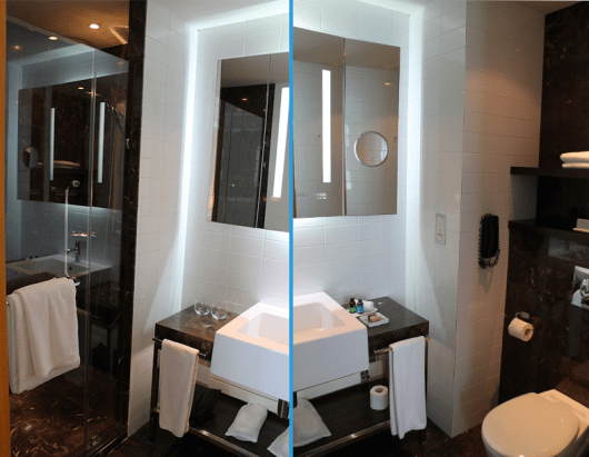 Bathroom at the ME Melia Mode Room