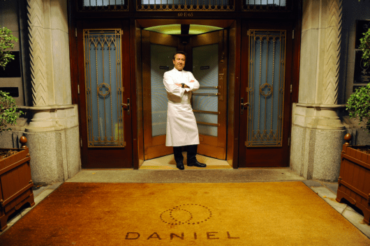 Chef Daniel Boulud outside of his iconic NYC restaurant Daniel