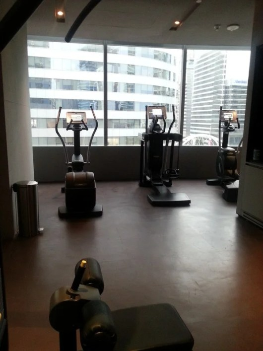 Some machines at the W hotel gym