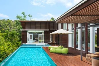 A Jungle Oasis room at the W Retreat Koh Samui comes with its own plunge pool