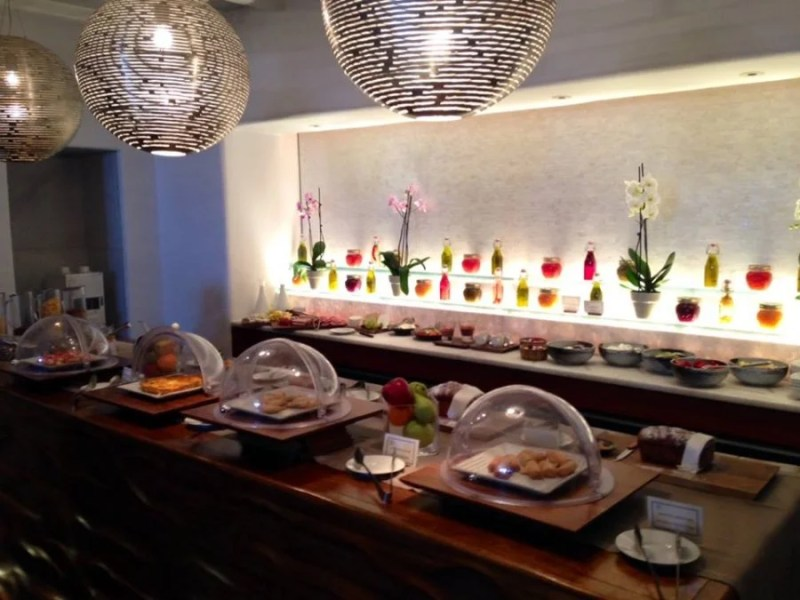 The Belvedere's healthy and impressive breakfast buffet