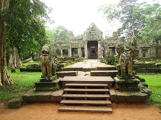 The deserted Preah Khan temple