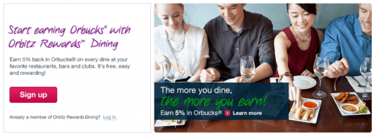 The Orbitz Rewards loyalty program has just launched a dining rewards program.