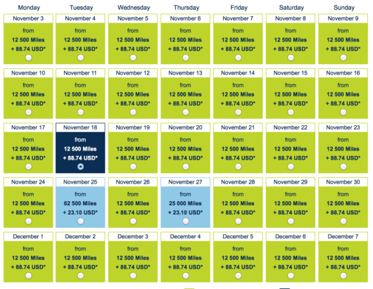 There is some decent availability in coach from Detroit to Paris for 12,500 miles each-way.