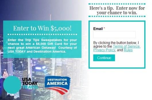 Win a $5,00 Visa gift card