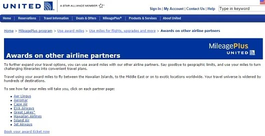 Some, but not all of United's non-alliance partners.