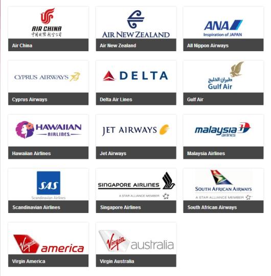 A list of Virgin Atlantic transfer partners