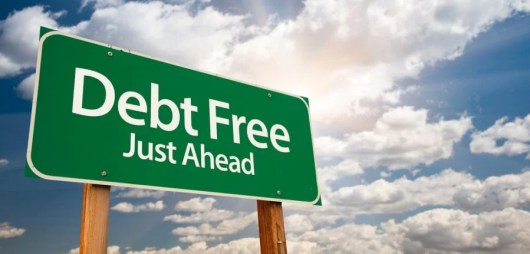 debt free ahead banner