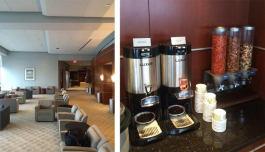Us Airways Club Lounge at PHL - and the tragic snack offerings