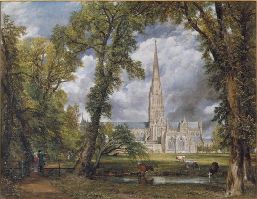 John Constable's Salisbury Cathedral from the Bishop's Ground, 1823, oil on canvas
