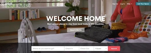 Find a unique and affordable dwelling with Airbnb.