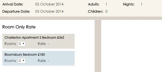 The Morton Hotel was more expensive if booked through their own webpage