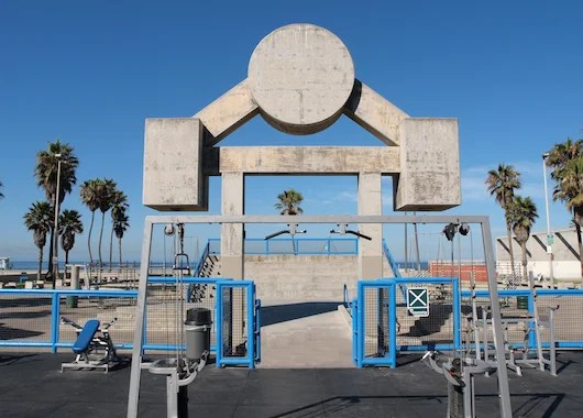 Pump some iron at Muscle Beach. Photo courtesy Shutter Stock.