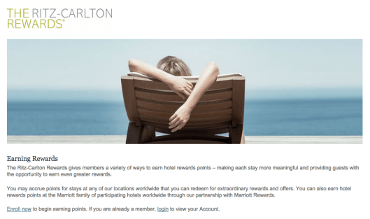 Ritz-Carlton Rewards looks like its own loyalty program, but it is actually fully integrated with Marriott Rewards.