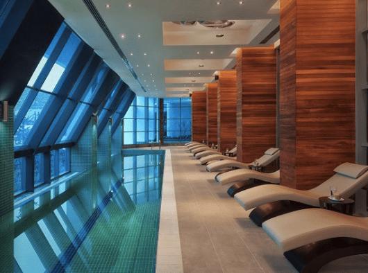 The spa at the Radisson Blu