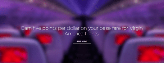 Virgin America offers you standard earning rates of 5 points/$ on paid tickets, regardless of the distance flown.