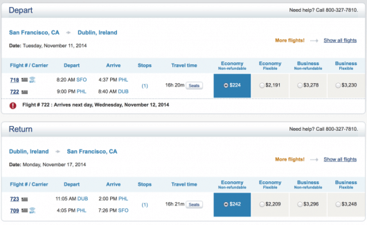 Fly from SFO-DUB for only $465 roundtrip.