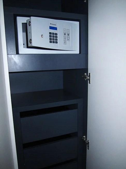 The safe inside the closet