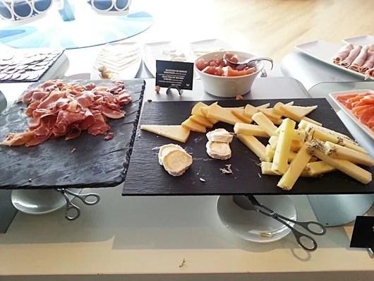 Spanish cheeses and ham