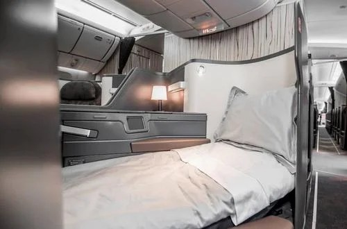 Lie-flat seats in China Airlines' Next Generation Premium Business