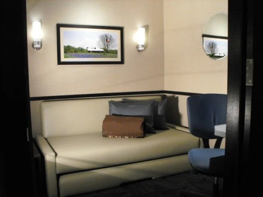 One of the private, for-rent Minute Suites at DFW