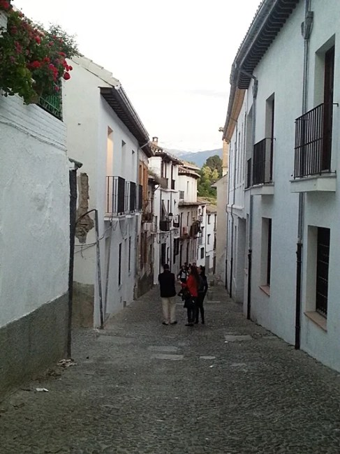 The steep streets of the Albyzin are better for a relaxed walk, not driving or parking!