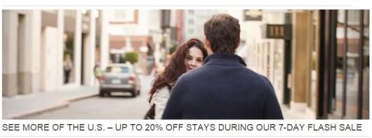 Save 20% during Hyatt's Flash sale