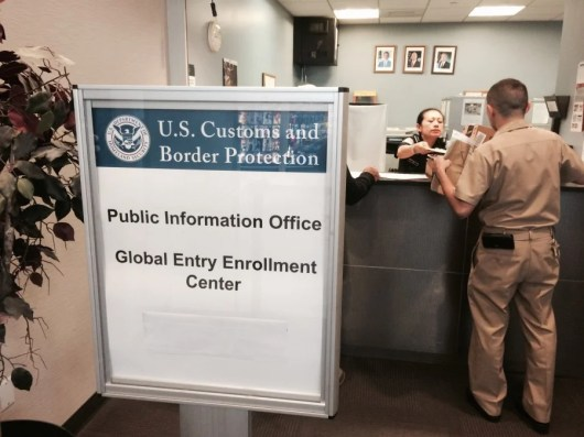 I only waited outside the CBP office for one minute before being invited inside.