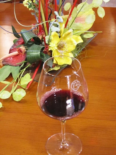 A sample of Lealtanza wine from Bodegas Altanza